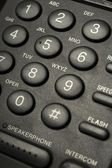 Black telephone buttons — Stock Photo