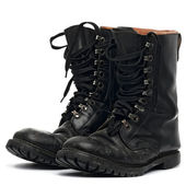 Black boots — Stock Photo