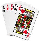 Jugando a las cartas — Foto de Stock