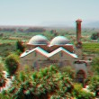 3D anaglyph stereo image of Isa Bey Mosque, Turkey - Stock Photo
