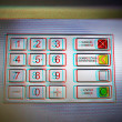 This photograph represent a ATM keypad - Stock Photo