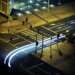 Modern city infrastructure at night — Foto Stock