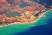 3D anaglyph of turkish riviera — Stock Photo