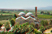 3D anaglyph stereo image of Isa Bey Mosque, Turkey — Stock Photo