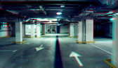 Road in an underground car park — Stok fotoğraf