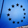 Umbrella and European Union stars - Stock Photo