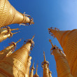Stock Photo: Stupas in Myanmar