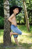 Boy in the hat — Stock Photo
