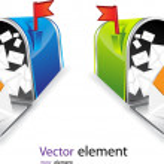 Mail box — Stock Vector
