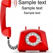 Red phone — Stock Vector
