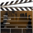 Movie clapper board — Stok Fotoğraf #5865798