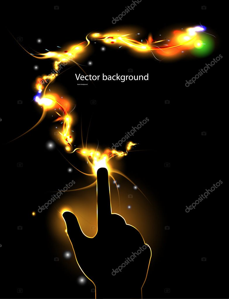 Flash hand — Stock Vector #6040644