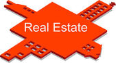Real estate puzzle — Stock Vector