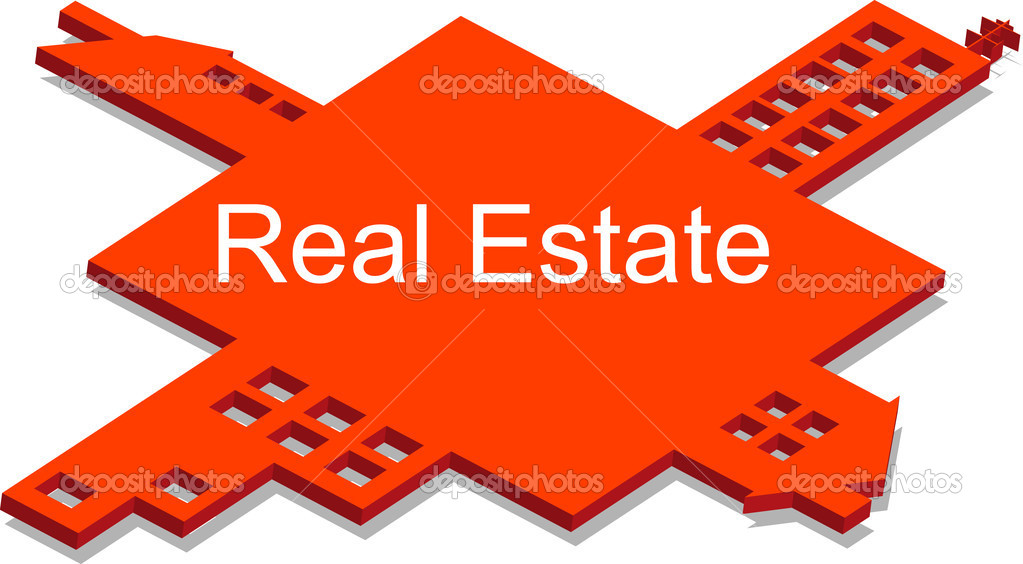 Real estate puzzle — Stock Vector #6462794