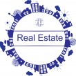Real estate — Vector de stock #6470130