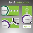 Set of vector cards — Stock Vector