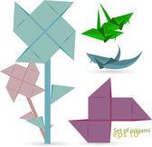 Vektor-satz von origami — Stockvektor