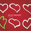 Royalty-Free Stock Vectorielle: Set of hearts vector format