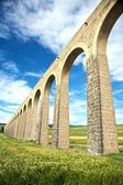 Lado do aqueduto em pamplona — Fotografia Stock