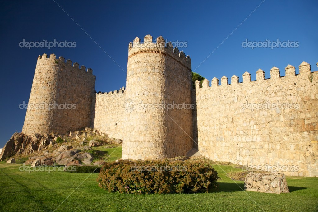 View of Avila city at Castilla in Spain  Stock Photo #5764399