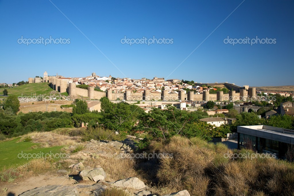 View of Avila city at Castilla in Spain — Stock Photo #5767251