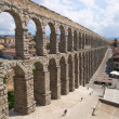 Great aqueduct of segovia city - Stock Photo