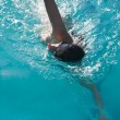 Stock Photo: Woman swimming breath