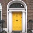 Stock Photo: Yellow classic door