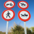 Stock Photo: Four traffic signs