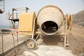 Yellow cement mixer — Stock Photo