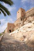 Entrada para o castelo de almeria — Foto Stock