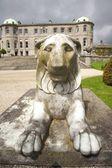 Front of lion sculpture — Fotografia Stock