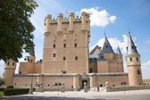 Front of segovia castle — Stock Photo