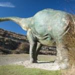 Back of dinosaur big doll — Stock Photo