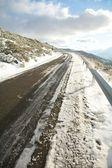 Tehlikeli kar yola — Stok fotoğraf