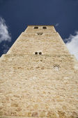 Belmonte church tower front — Stock Photo