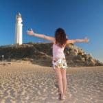 Greeting lighthouse — Stock Photo #6370301