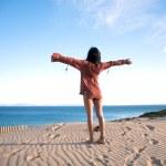 Greeting ocean horizon — Stock Photo #6370321