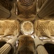 Ceiling cupola indoors at Salamanca cathedral — Stock Photo