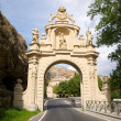 Monumental door in segovia — Stock Photo