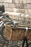 Old bicycle handlebars — Stock Photo
