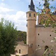 Tower castle of segovia — Stock Photo