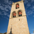 Tower with red bells — Stock Photo