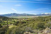 Village valley at gredos mountains — Stock Photo
