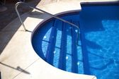 Tile stairs pool — Stock Photo