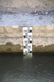 Measuring river — Stock Photo