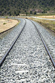 Raylı tren eğrisi — Stok fotoğraf