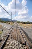 Railway cross road — Stock Photo