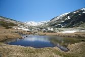Reservoir at gredos valley — Foto Stock