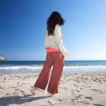 Stand on beach sand — Stock Photo